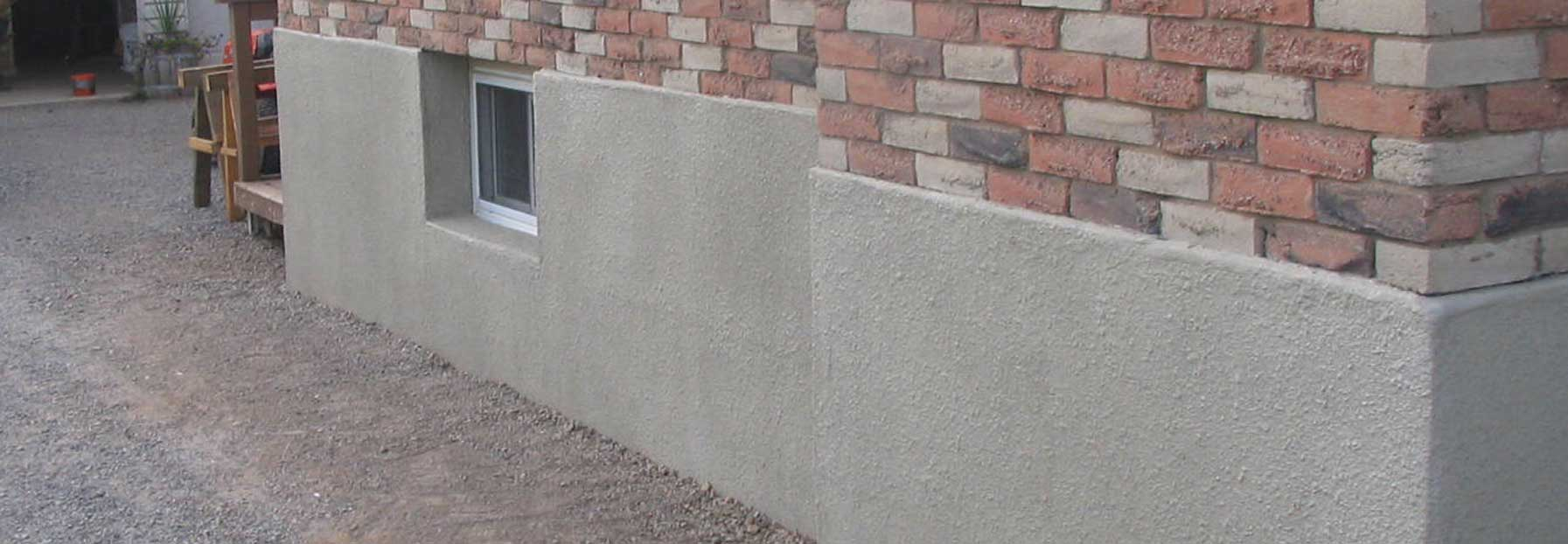parging foundation repair